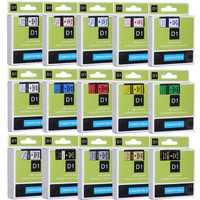CIDY Multicolor 45013 40913 43613 45018 40918 45016 kompatybilny 12MM Dymo D1 taśmy etykietowe dla Dymo LM160 LM280 Dymo PNP
