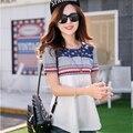 2016 Hot Sale Summer T Shirt Women Short Sleeve Print Tshirt Female Fashion T-shirts Women Tops Plus Size Tee Shirt A840