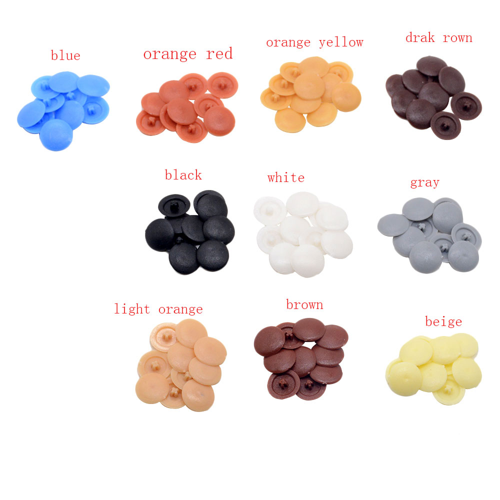 300pcs Ten Colors Self-Tapping Screw Cross Special Cover Decorative Hole Plug Plastic Cover Button Screw Decor Hardware