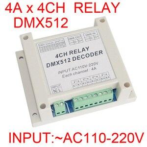 Оптовая продажа, 1 шт., декодер для управления светодиодными лентами, 4 канала, RGB, dmx512, 3P, реле, для светодиодных ламп, 1 шт., для использования
