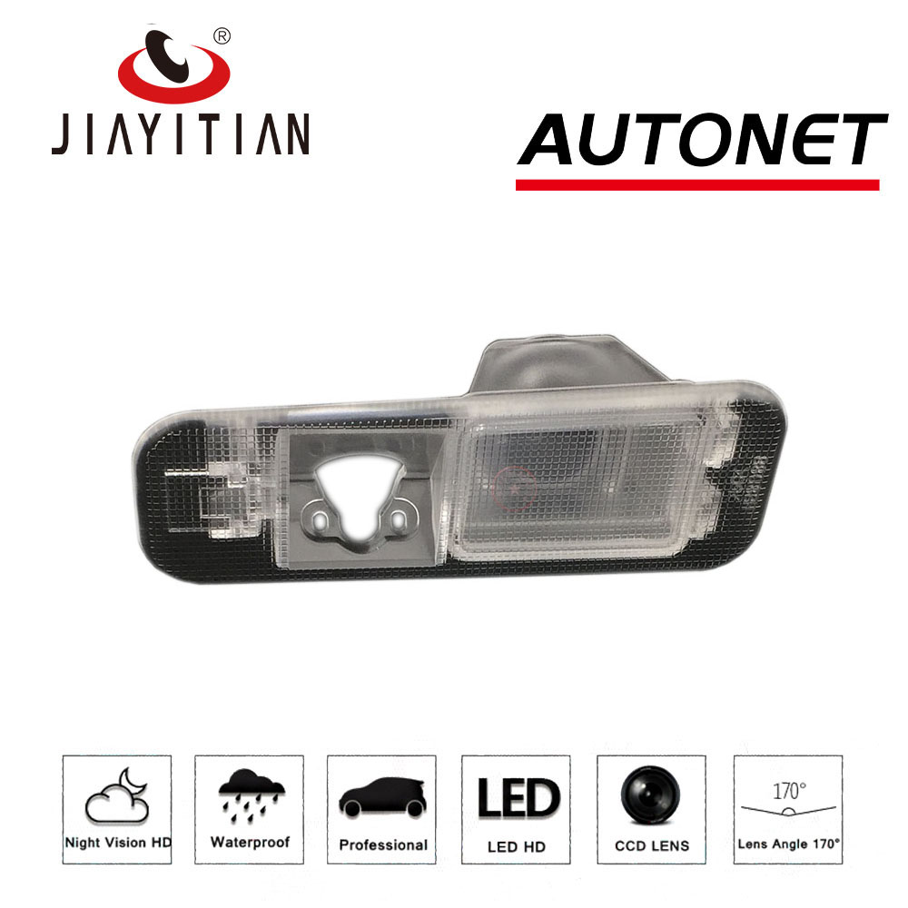 JIAYITIAN DIY Rear View Camera For Kia Rio 3 UB Sedan Rio 2 JB 2009~2016 License Plate Housing Kit Lights Bracket