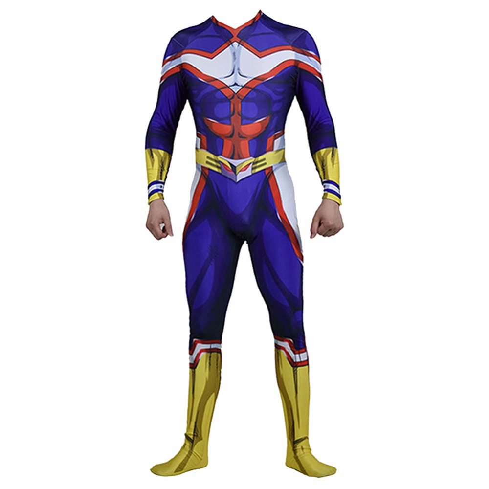 All Might Cosplay Costume My Hero Academia Boku no Hero Academia All Might Costume Jumpsuit Cosplay Uniform Men and Women