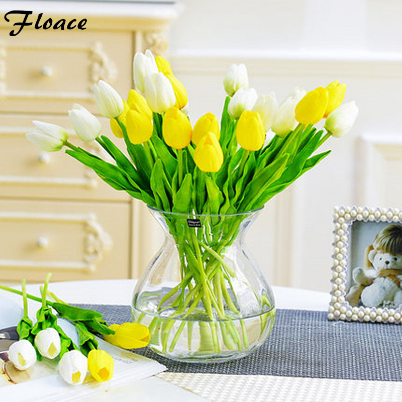 11pcs lot stunning mini tulip flower real touch wedding for Artificial flowers for home decoration online