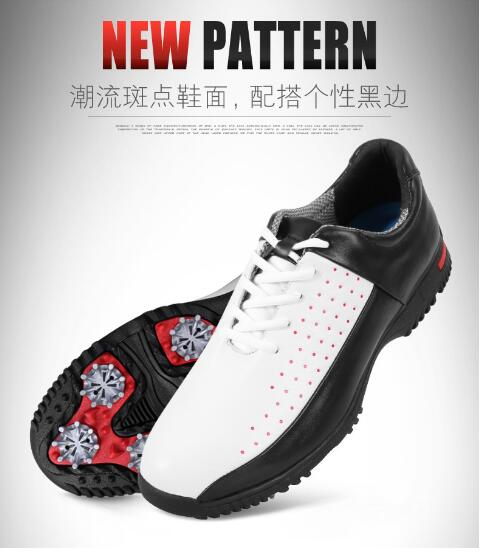 PGM Mens microfiber leather breathable waterproof golf shoes men sport shoes activities nail anti-skid good grip golf shoesPGM Mens microfiber leather breathable waterproof golf shoes men sport shoes activities nail anti-skid good grip golf shoes
