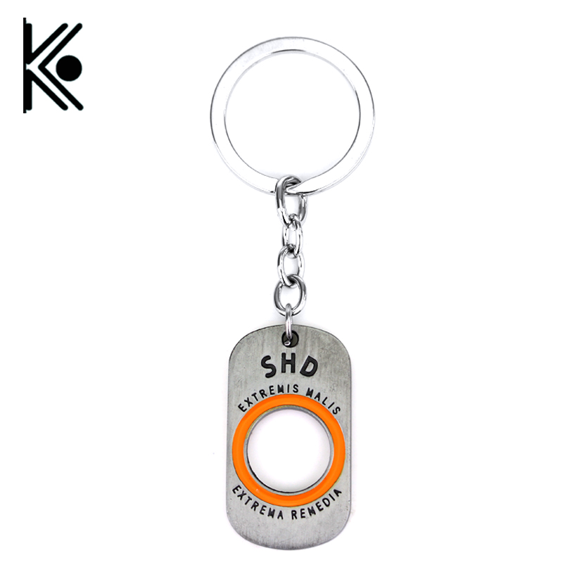 20/pc H&F PlayStation 4 Game Tom Clancy The Division letter metal keychain car TCTD SHD Key Holder Anime Chaveiros Porte Clef
