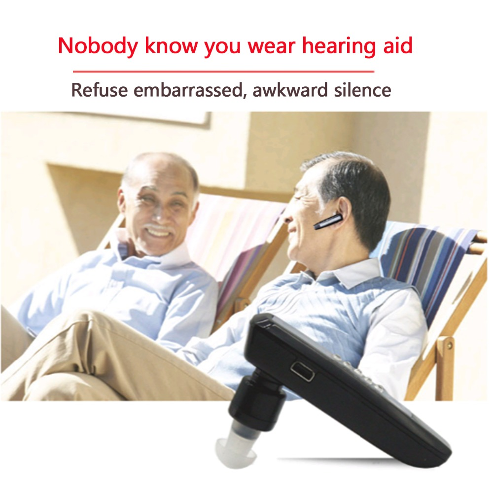 Rechargeable In Ear Hearing aid Bluetooth Style For the Elderly S-101 For both ears amplifier Free Shipping s 109s rechargeable ear hearing aid mini device sordos ear amplifier hearing aids in the ear for elderly apparecchio acustico
