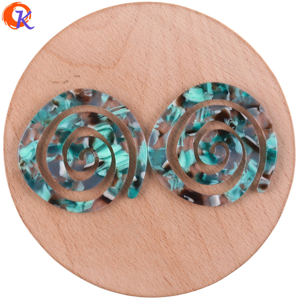 Image 5 - Cordial Design 30Pcs 41*43MM Jewelry Accessories/Acetic Acid Beads/DIY/Spiral Shape/Earring Making/Hand Made/Earring Findings-in Beads from Jewelry & Accessories