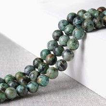 Fashion Natural Stones Green African Pine Stone Loose Beads Handmade Jewelry Emeralds DIY GEM Bead 4-12mm