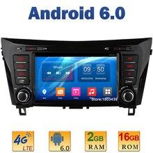 8″ Quad Core 2GB RAM+16GB ROM 4G LTE SIM WIFI Android 6.0 Car DVD Player Radio Stereo For Nissan Qashqai X-Trail 2014 2015 DAB+