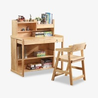 All Wood Children S Learning Suit Children S Writing Desk Desks And Chairs Combination