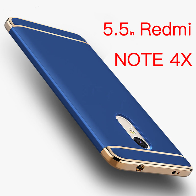 64gb 4X For Xiaomi Redmi Note 4X Case Redmi Note 4X Cover Bumper 3in1 Luxury Back Hard Accessories Redmi Note 4 Pro Coque Bling