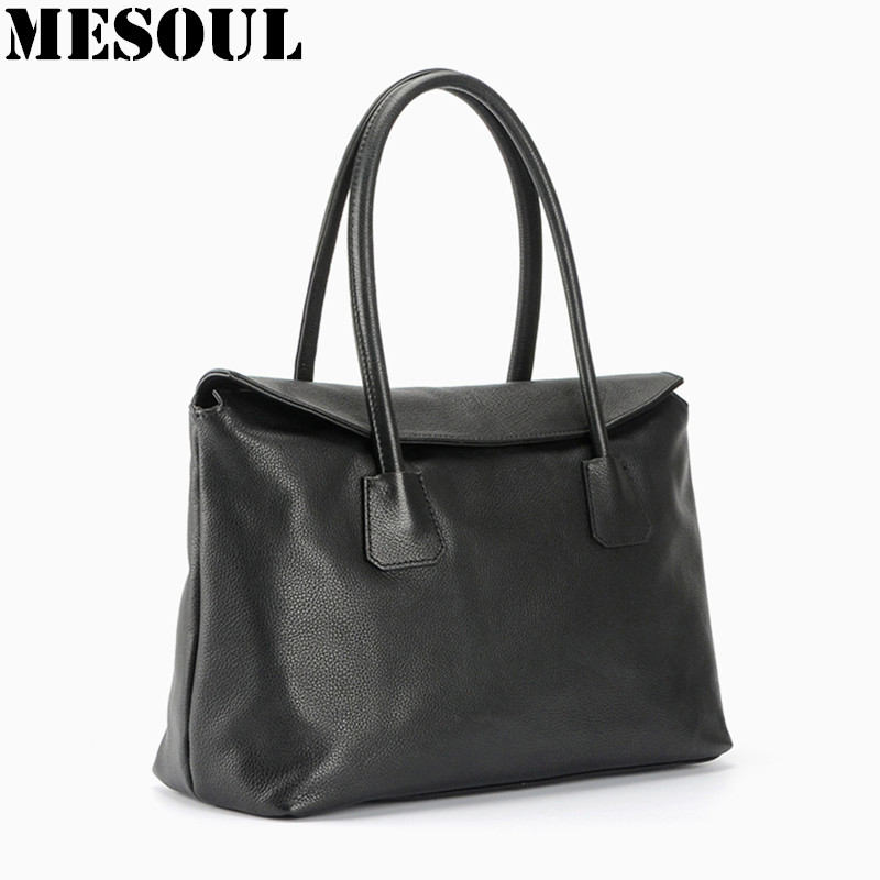 Brand Woman Handbag Genuine Leather Designer Bag Fashion Casual Tote Top Soft Cow Leather Shoulder Bags for women Bolsos Mujer