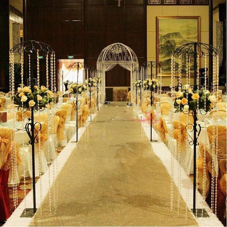 Blizganti raudona vestuvių dekoracija perlamutriniu kilimu, - Šventės ir vakarėliai - Nuotrauka 3