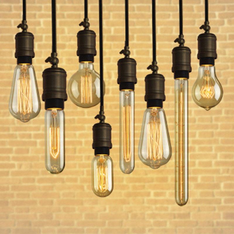 Retro Lamp e27 Edison bulb ST64 T45 incandescent lamp decor light bulb tube filament 40w/60w 110v 220v e27 filament edison bulbs