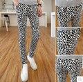 Весна и осень леопардовый принт чёрно-белый узор в горошек мужчины в свободного покроя брюки ночной клуб приталенный брюки / M-XL