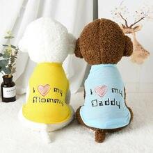 Костюм для домашних животных милое Хлопковое платье одежда i
