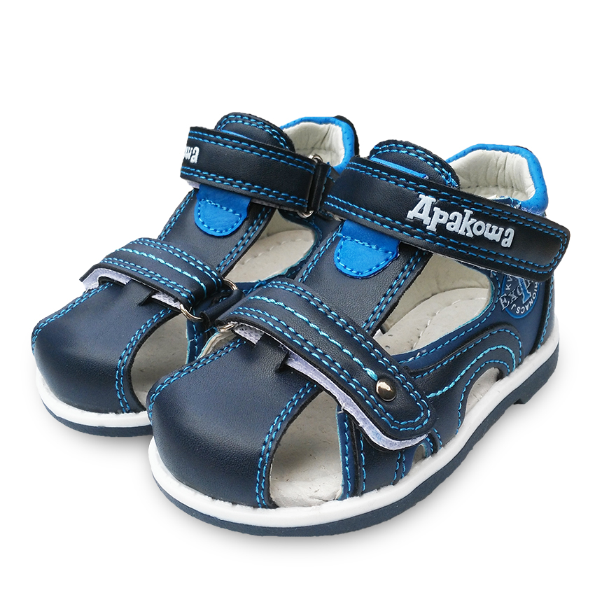 Free Shipping 1pair Orthopedic summer Children Sandals Boy shoes+inner 11.8-14.8cm, soft outsole Shoes, Kid/Baby shoes