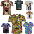 Новые мода печать и размер свободного покроя 3d майка печать футболок лето