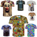 Newest Fashion Print Both Size Casual 3d T shirt Print Tshirts Summer