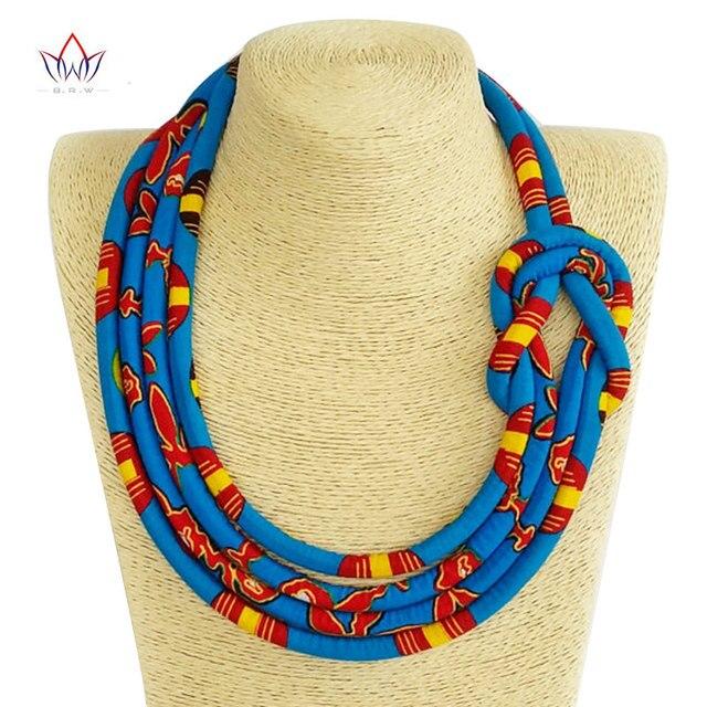 97a5dfdf7e65 2019 tela africana tela babero Batik collar tela collar de nudo  AnkaraTribal Collar para las mujeres