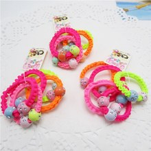 5pcs/lot Hair rubber band accessories cheapest rezinochki wholesale fluorescence candy colors hair elastics