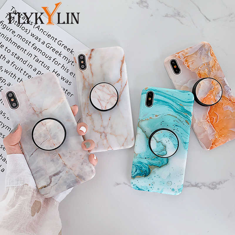FLYKYLIN Marble Case For Huawei P20 Lite P30 Pro Nova 3 3i 3e 4e 2S Mate 20 Back Cover on Soft IMD Silicone Smooth Phone Coque