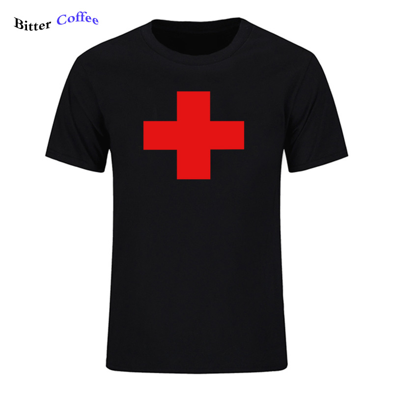 b9bffda869a5 BITTER COFFEE Top Quality T Shirts Fashion RED MEDICAL CROSS Printed T  Shirt Men Brand T shirt Cotton Tee Shirt Plus Size-in T-Shirts from Men's  Clothing on ...