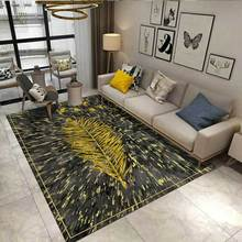 Home Large Size Area Rug Modern Simple Geometric Noble Golden Pattern Carpets for living Room Bedroom Decor Carpet Antiskid Mats