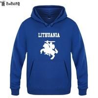 Mens Hoodies Lithuania Coat of Arms Print Hoodie Men Fleece Long Sleeve Man's Sweatshirt Skate Pullover Tracksuit Oversized Coat