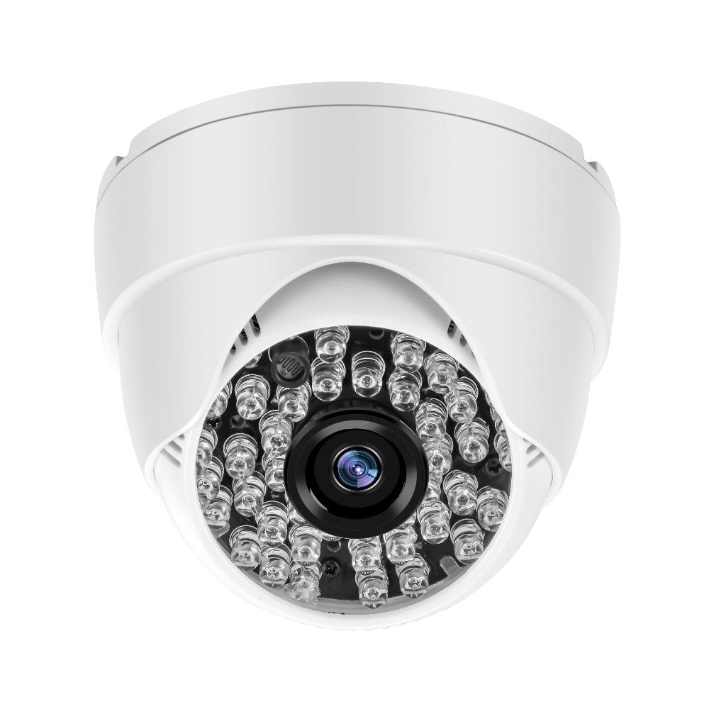 YiiSPO AHD 720P 1080P IR Mini Câmera Dome 1MP 2MP 3MP 4MP AHD Câmera IR indoor CORTAR 48LEDS de Visão Noturna