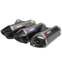 Universal Inlet 51mm Akrapovic Motorcycle Exhaust Muffler Pipe Modified Motorbike Carbon Fiber Muffler Exhaust Escape