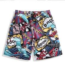 Men Beach Shorts Surfaster Quick-dry Print Loose Couples Pants Large Size  Swimming Surf For