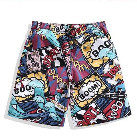 Calças de Praia Shorts para Homem Homens Praia Shorts Surfaster Impressão Rápida Solta Casais Homem Grande Tamanho Natação Surf