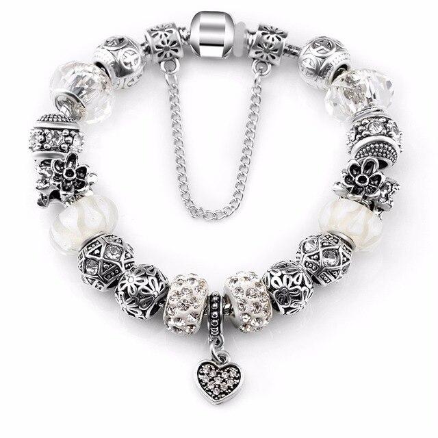 Rhinestone Glass Beads Bracelet