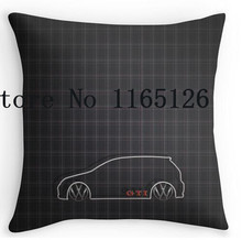 Two sides printing GTI Tartan Pillow Cases for12 14 16 18 20 24 inch free shipping