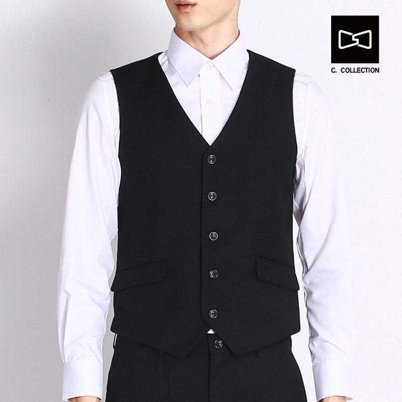 2017 Lelaki Pinggang jaket Suit Lelaki, Pinggang sesuai Pakaian Vest - Pakaian lelaki - Foto 3