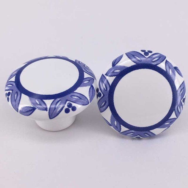 2PCS Round Creamic Cabinet Knob Door Handle Decorative Furniture Knobs And  Pulls Drawer Handle Cupboard Home