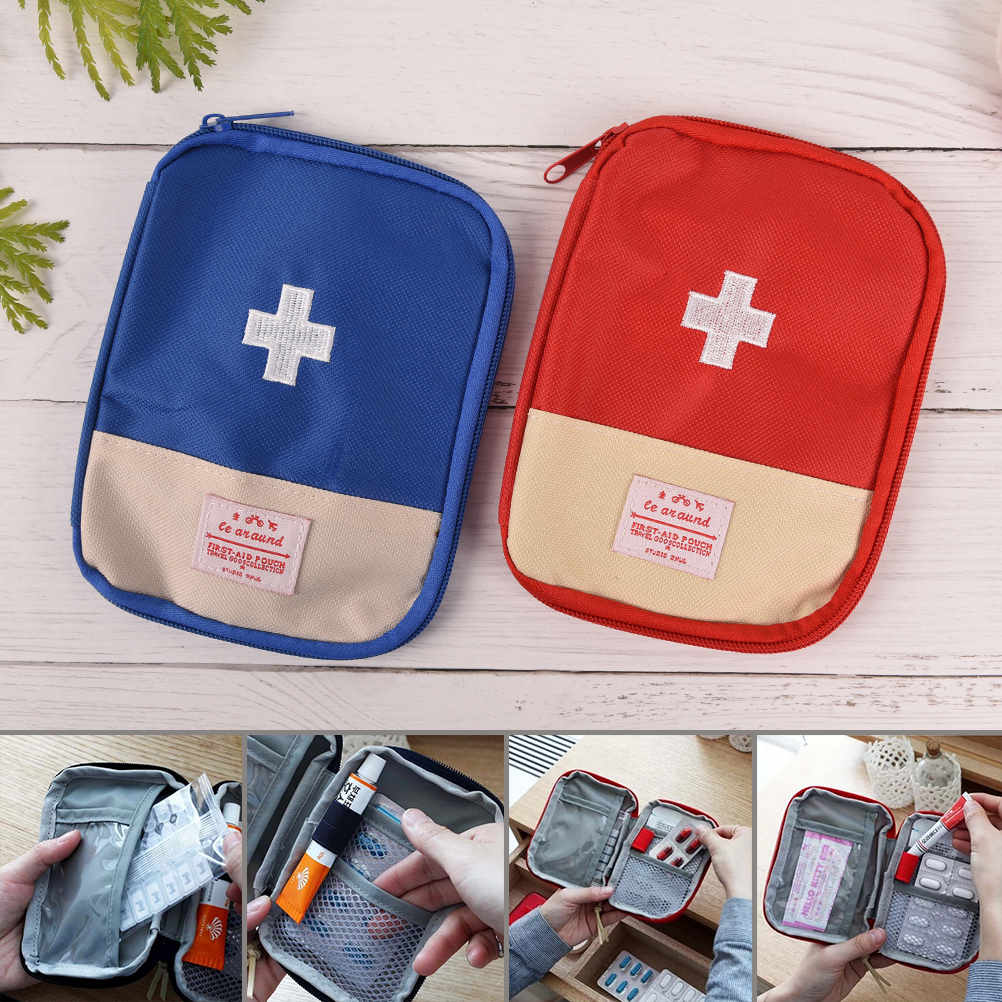 1PC  Travel First Aid Kit Medicine Bag Home Small Medical Box Portable Emergency Survival Pill Case