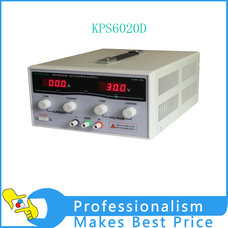 KPS6020D High precision High Power Adjustable LED Dual Display Switching DC power supply 220V EU 60V/20A switch power kps3010d adjustable high precision double led display switch dc power supply protection function 30v10a 110v 230v