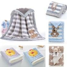 Baby-Kinder-Kaninchen Flanelldecke Bettwäsche Quilt Spieldecke Handtuch wickeln