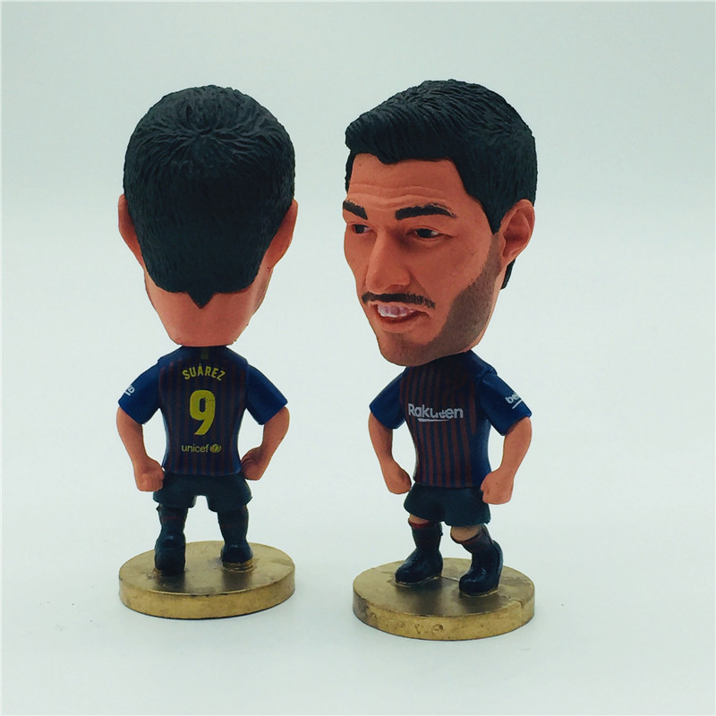 Soccerwe Soccer Star Doll BC Messi Suarez Coutinho Ronaldinho Puppets Portraits Collections 2019 Season