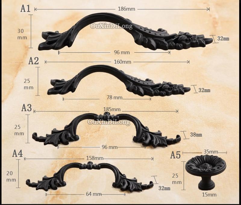 Разработанный 5 пар или 10 шт европейские антикварные кухонные дверные ручки, ручки для шкафа, ящика, шкаф, шарообразные ручки шкафов ручки и ручки - 6