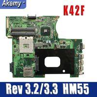 K42F Rev 3.2/3.3 GMA HD USB2.0 HM55 PGA989 mainboard para For Asus K42F X42F a42F P42F Motherboard 100% testado inteiramente