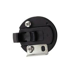 Image 4 - 4 adet sıcak satış siyah yuvarlak güverte kilit gömme çekme Slam mandalı kaldırma kolu tekne deniz mandalı RV güverte kapak kapı değiştirme