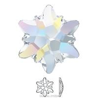 Swarovski Elements Edelweiss 2753 AB Crystal No Hotfix Or Hotfix Iron On 10mm 14mm Flat Back