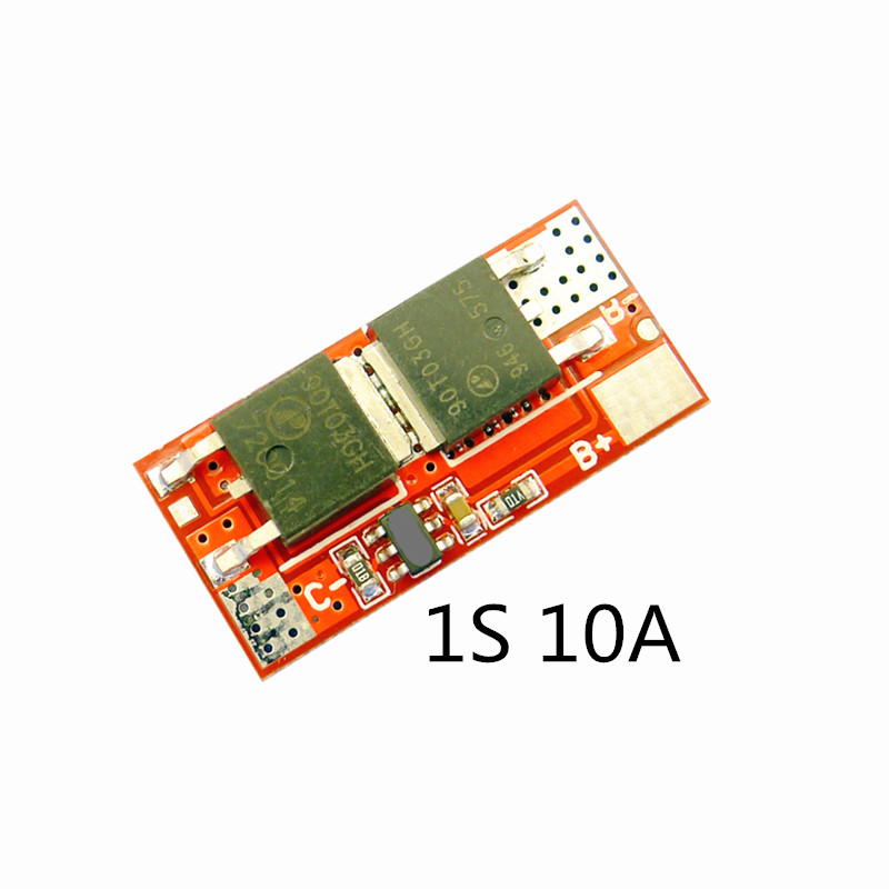10A 1S 4.2V PCB PCM BMS Charger Charging Module 18650 Li-ion Lipo 1S 10A BMS Lithium Battery Protection Circuit Board
