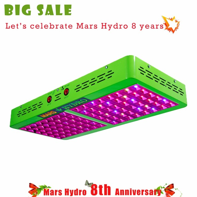 Mars Hydro Reflector480W LED Grow Light with Growth Flower Switches IR light for Indoor Grow,Hydroponic