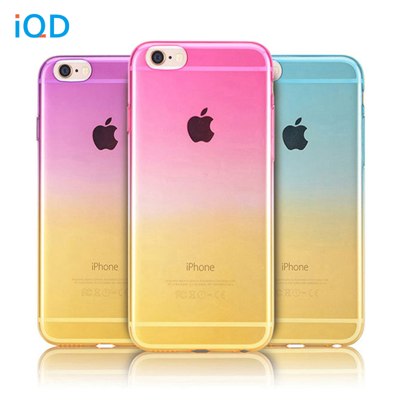IQD For iPhone 5 5s SE 6 6s 7 7 plus Fitted Case Colorful Slim Translucent Flexible TPU Soft Defender Protective Shell cover