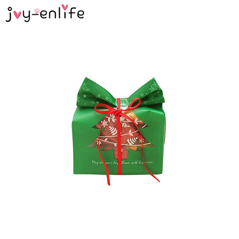 20pcs Red Green Merry Christmas Tree Gift Bags Package Bag Box Christmas Decorations for Home Candy Bags Navidad Xmas Gift Bag in Gift Bags Wrapping Supplies from Home Garden
