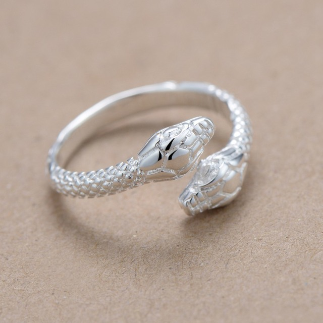 snake simple Silver plated Ring Fashion Jewerly Ring Women&Men , /FZJHNWXY DPCCTZFN